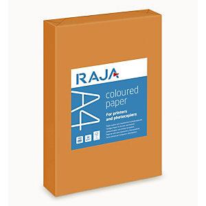 RAJA Coloured Paper Papel de Colores para Faxes, Fotocopiadoras, Impresoras Láser e Impresoras de Inyección de Tinta Naranja A4 80 g/m²