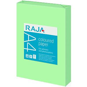 RAJA Coloured Paper Papel de Colores para Faxes, Fotocopiadoras, Impresoras Láser e Impresoras de Inyección de Tinta Verde A4 80 g/m²