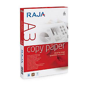 RAJA Copy Carta per fotocopie A3 per Fax, Fotocopiatrici, Stampe in bianco e nero, 80 g/m², Bianco