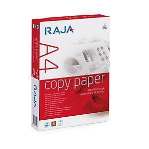 RAJA Copy Carta per fotocopie A4 per Fax, Fotocopiatrici, 80 g/m², Bianco (confezione 5 risme)