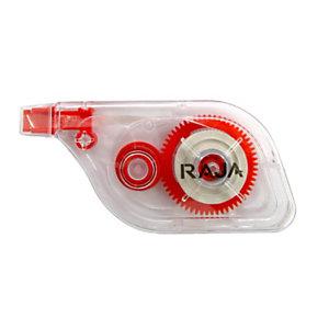 RAJA Correcteur à sec roller à dépose latérale Sideway 5 mm x 8,5m - Corps translucide