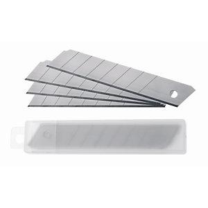 RAJA Cuchillas de recambio para cutters de acero inoxidable 18 mm paquete de 10