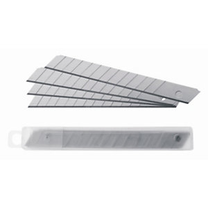 RAJA Cuchillas de recambio para cutters de acero inoxidable 9 mm paquete de 10