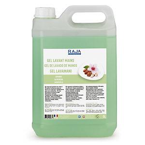 RAJA Detergente gel lavamani, Profumazione Mandorla, Tanica 5 l