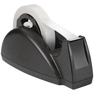 RAJA Dispensador de cinta adhesiva, doble núcleo, ancho de cinta de 19 mm, negro