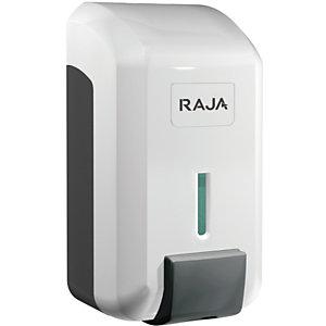 RAJA Dispenser per sapone liquido, ABS, Con serbatoio rimovibile, 11,5 x 11,7 x 21,3 cm, Bianco