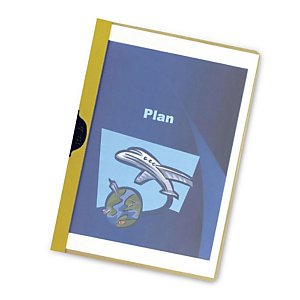 RAJA Dossier de pinza, A4, PVC, 30 hojas, amarillo