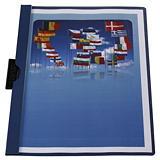 RAJA Dossier de pinza, A4, PVC, 30 hojas, azul