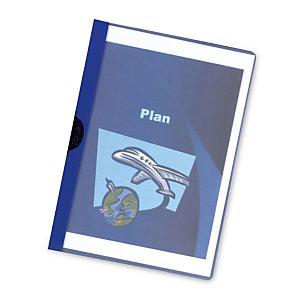 RAJA Dossier de pinza, A4, PVC, 60 hojas, azul