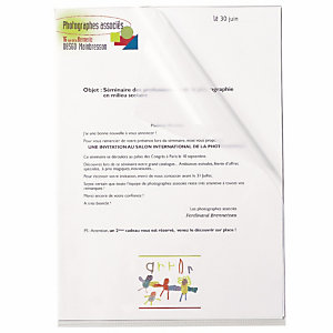 RAJA Dossier uñero, A4, polipropileno liso, 160 micras, transparente