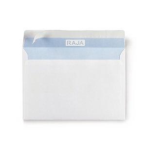 RAJA Enveloppe blanche DL 110 x 220 mm 80g avec fenêtre - bande autoadhésive