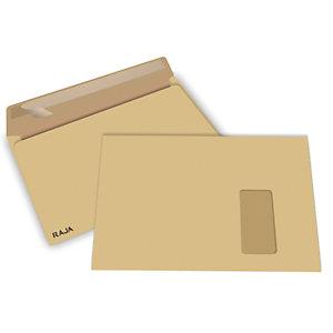 RAJA Enveloppe kraft blond Premium C4 229 x 324 mm 90g sans fenêtre  ouverture grand côté - bande autoadhésive
