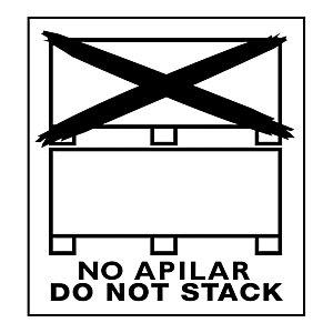 RAJA Etiquetas para señalización de envíos, especial paletización / NO APILAR, 110 x 130 mm, Rollo 500 unid