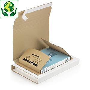 RAJA Étui emballage postal carton brun avec fermeture adhésive - 43 x 31 cm pour format A3 cadre, tableau
