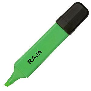 RAJA Evidenziatore, Punta a scalpello, 1 - 5 mm, Verde (confezione 5 pezzi)