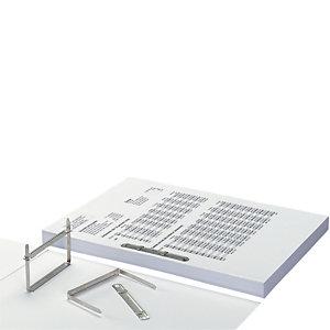 RAJA Fástener con puntas metálicos, juego de 2, 50 mm, plata, caja de 50