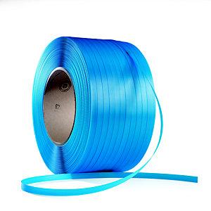 RAJA Feuillard de cerclage manuel en Polypropylène Bleu l.12 x 0,55 mm - Bobine L.3000 m