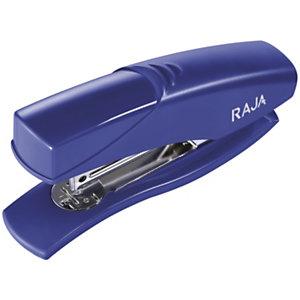 RAJA Grapadora manual, capacidad para 25 hojas, compatible con grapas 24/6, azul