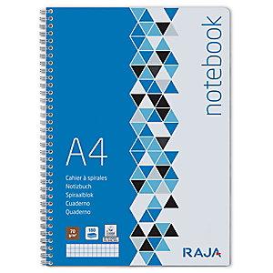 RAJA Integral Cuaderno, A4, cuadriculado, 90 hojas, cubierta de cartulina