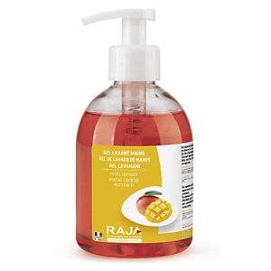 RAJA Jabón de manos en crema nutritivo con aroma a fruta exótica, 300 ml, botella con dosificador