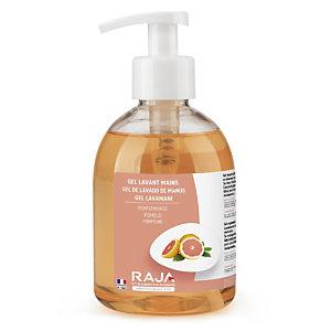 RAJA Jabón de manos en crema nutritivo con aroma a pomelo, 300 ml, botella con dosificador
