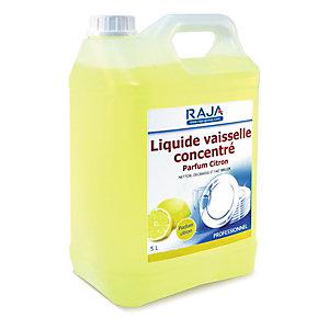 RAJA Liquide vaisselle concentré Parfum citron - Bidon de 5 L