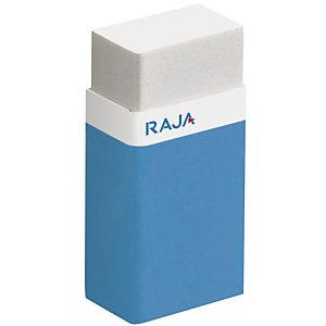RAJA Mini gomme plastique blanche