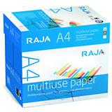 RAJA Multiuse Papel Multifunción para Faxes, Fotocopiadoras, Impresoras Láser e Impresoras de Inyección de Tinta Blanco A4 80 g/m²