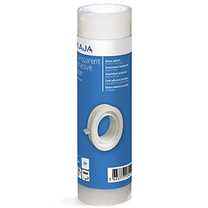 RAJA Nastro adesivo, 19 mm x 33 m, Polipropilene, Trasparente (confezione 8 rotoli)