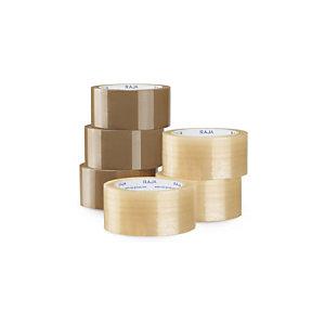 RAJA Nastro adesivo da imballo, PPL 28 micron, 50 x 66 m, Trasparente (confezione 6 pezzi)