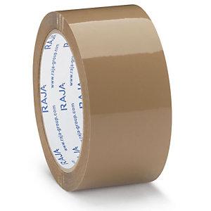 RAJA Nastro adesivo da imballo silenzioso Resistente, PPL 35 micron, 50 mm x 66 m, Avana (confezione 6 rotoli)
