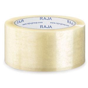 RAJA Nastro adesivo da imballo silenzioso Resistente, PPL 35 micron, 50 mm x 66 m, Trasparente (confezione 6 rotoli)