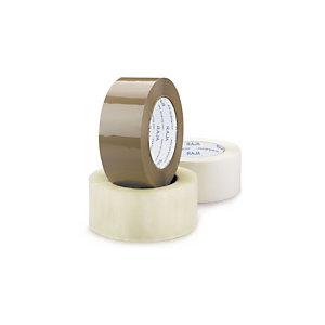 RAJA Nastro adesivo da imballo silenzioso Standard, PPL 28 micron, 48 mm x 66 m, Avana (confezione 6 rotoli)