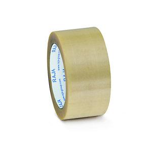 RAJA Nastro adesivo in PVC, 50 mm x 66 m, Trasparente (confezione 6 rotoli)