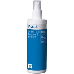 RAJA Nettoyant pour écrans et claviers - Spray de 250 ml