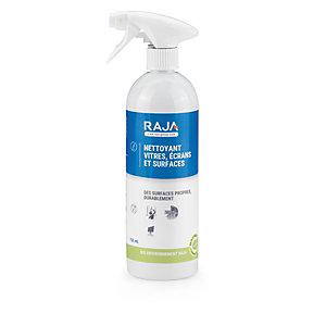 RAJA Nettoyant pour vitres, écrans et surfaces lisses - Spray de 750 ml