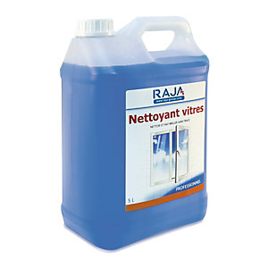 RAJA Nettoyant vitres prêt à l'emploi bleu - bidon de  5L