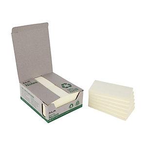 RAJA Notes repositionnables 100% recyclées 76 x 127 mm -  jaune pastel Bloc de 100 feuilles