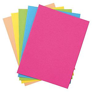 RAJA Pack 100 chemises dossiers + 250 sous-chemises – Assortis pastel