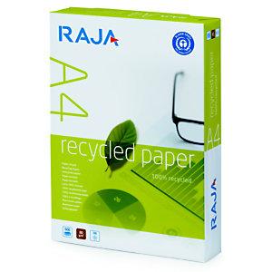 RAJA Papel Multifunción para Faxes, Fotocopiadoras, Impresoras Láser e Impresoras de Inyección de Tinta Blanco Reciclado A4 80 g/m²