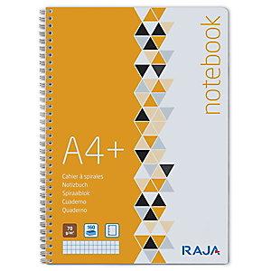 RAJA Plus Cuaderno, A4+, cuadriculado, 80 hojas, cubierta de cartón