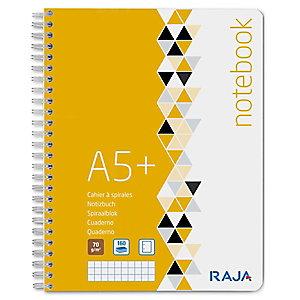 RAJA Plus Cuaderno, A5+, cuadriculado, 80 hojas, cubierta de cartón