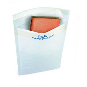 RAJA Pochette matelassée en mousse Eco - 24 x 33 cm - Papier extra-blanc 80 g/m²