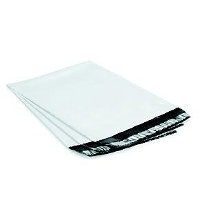 RAJA Pochette plastique opaque Super blanche fermeture adhésive- l.int.22 x H.32 cm