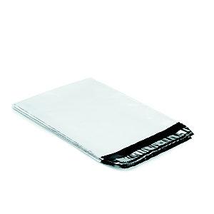 RAJA Pochette plastique opaque Super blanche fermeture adhésive- l.int.26 x H.40 cm