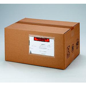 RAJA Pochette porte-documents Eco adhésive - Documents ci-inclus- l.int.165 x H.115 cm - Pour format A4 plié en 4