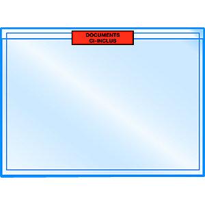 RAJA Pochette porte-documents Eco adhésive - Documents ci-inclus- l.int.320 x H.235 cm - Pour format A4