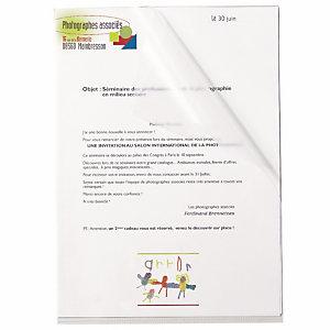RAJA Pochettes coin A4 polypropylène grainé 14/100 - Boîte de 100