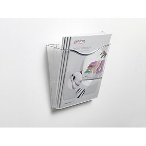 RAJA Portadepliant da muro, 1 scomparto, 28,6 x 3,4 x 25,4 cm (A4), Trasparente