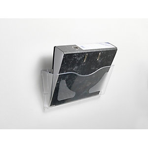 RAJA Portadepliant da muro, 1 scomparto, 38,2 x 10,6 x 17,8 cm (A4), Trasparente